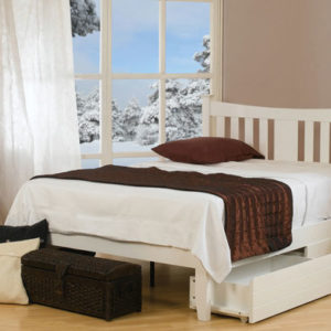 Kingfisher White Bed Frame by Sweet Dreams